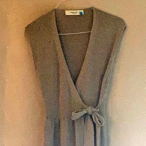 Sleeveless Sparrow Knit Wrap, Mini Dress Size M